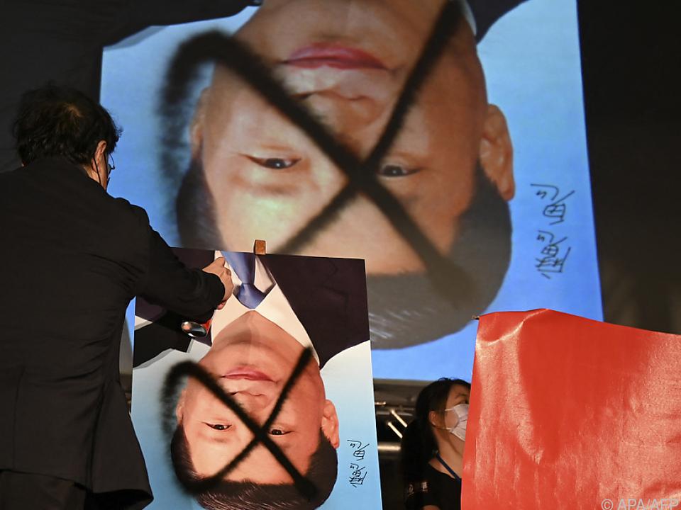 Chinas Präsident Xi ist in Taiwan nicht besonders beliebt