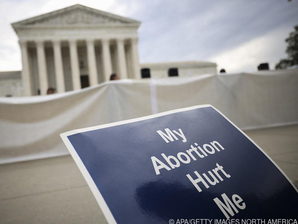 Demonstration gegen Abtreibung vor US-Höchstgericht in Washington