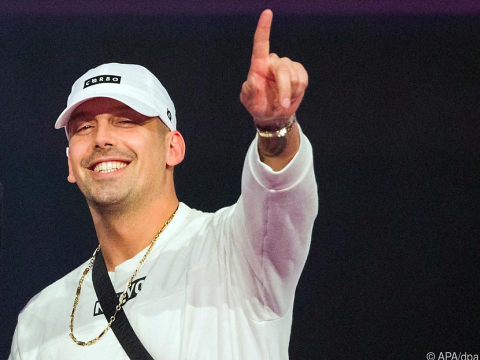 Der österreichische Rapper ließ sich impfen