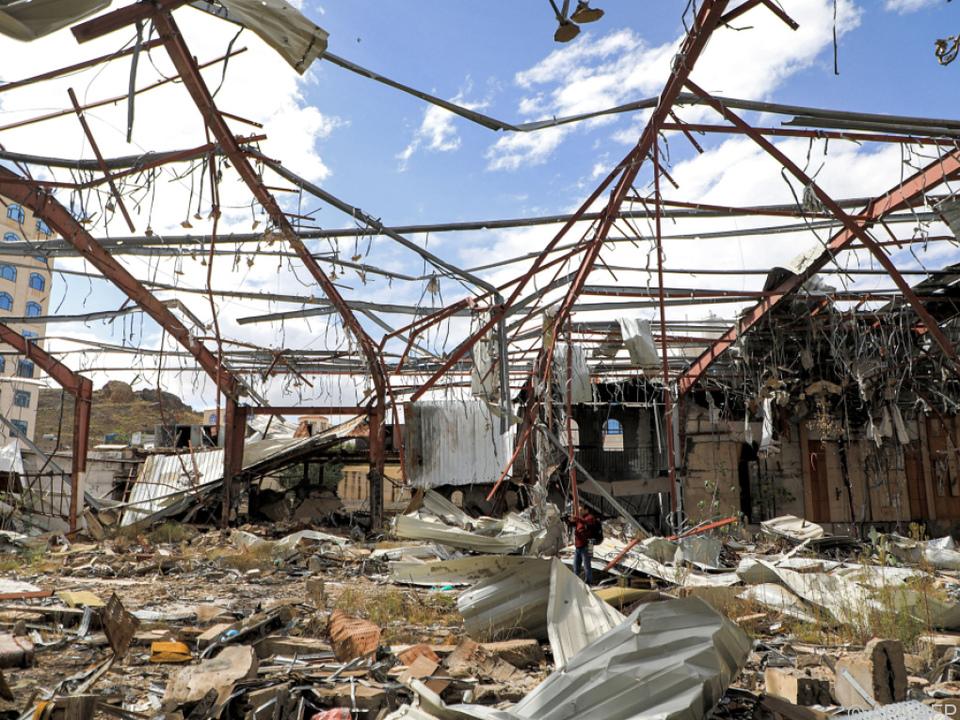 Die jemenitische Hauptstadt Sanaa ist kriegszerstört