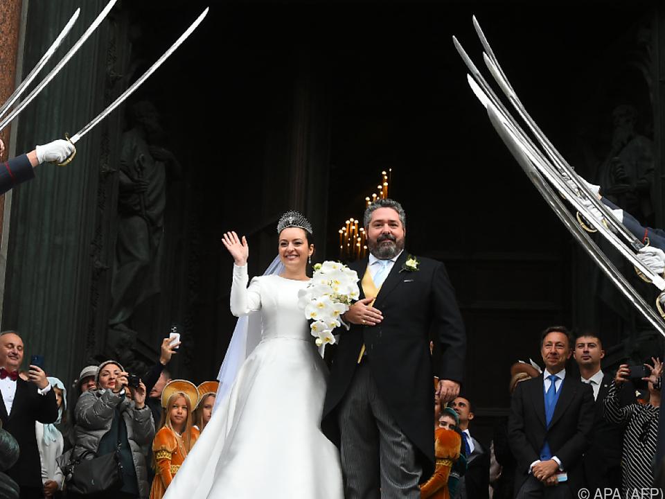 Georgi Romanow gab Rebecca Bettarini in St. Petersburg das Ja-Wort