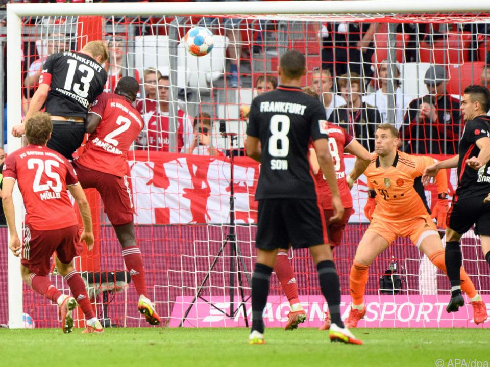 Hinteregger erzielte gegen Bayern den Ausgleich für Frankfurt
