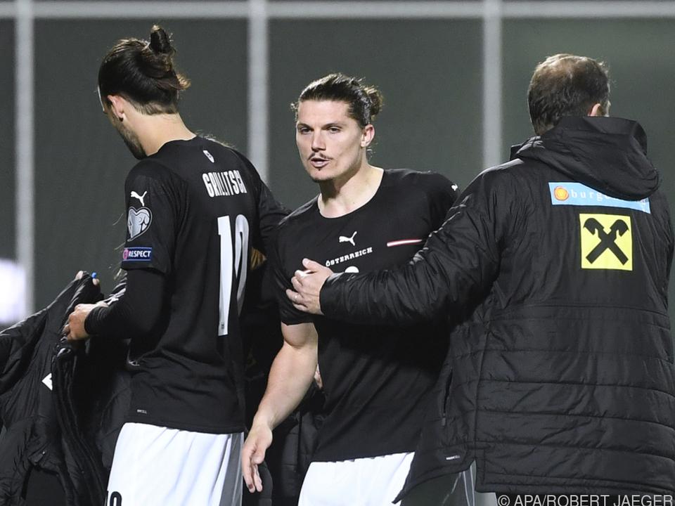 Marcel Sabitzer sorgte mit seinem 2:0 auch bei Foda für Erleichterung