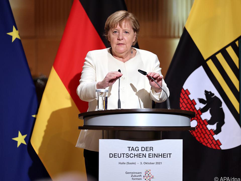Merkel hielt eine Rede beim Festakt