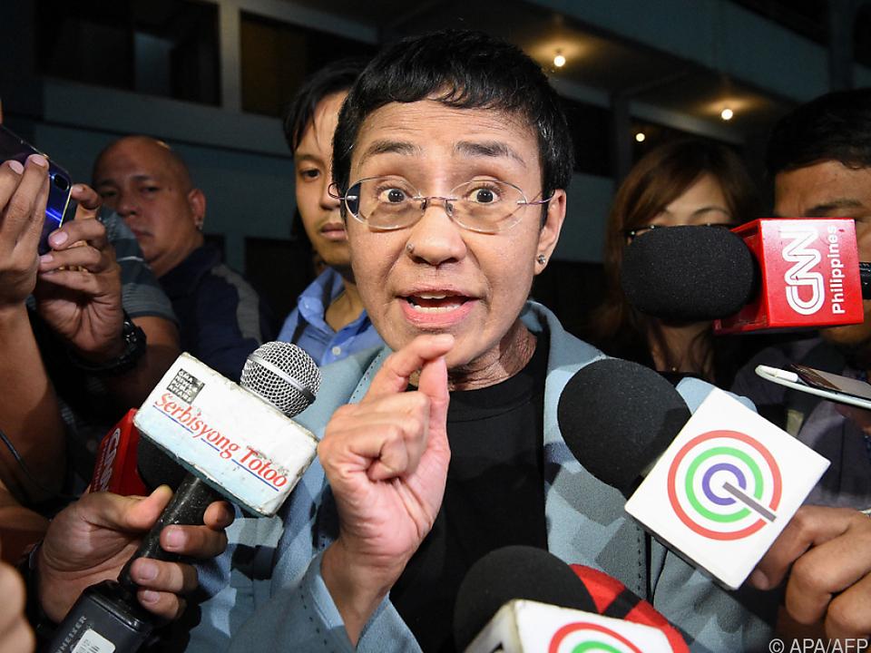 Philippinische Journalistin Ressa ist nun selbst im Fokus der Medien