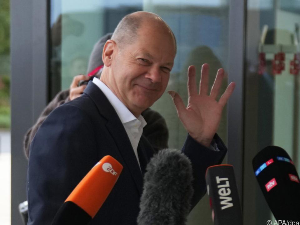 SPD-Kanzlerkandidat Olaf Scholz ist optimistisch