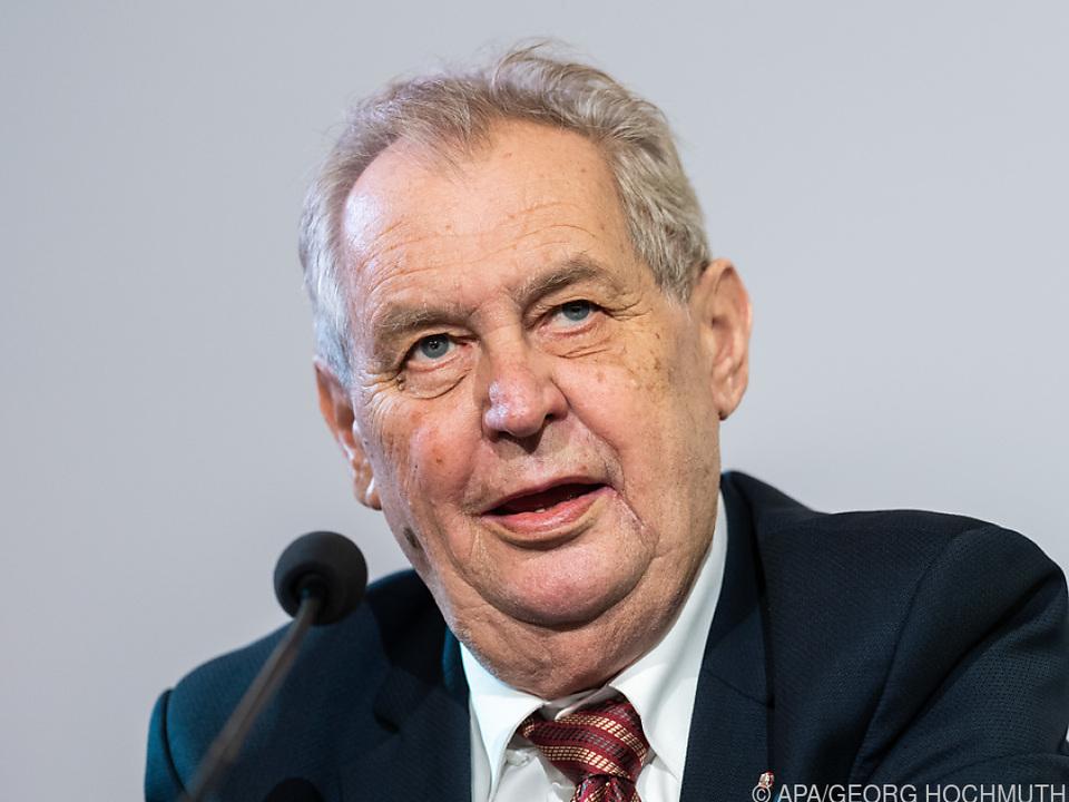 Tschechischer Präsident Zeman bei einem Besuch im Juni in Wien