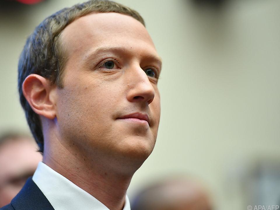Zuckerberg sprach von einem \